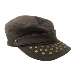 Volcom Brown Studded Military Cap